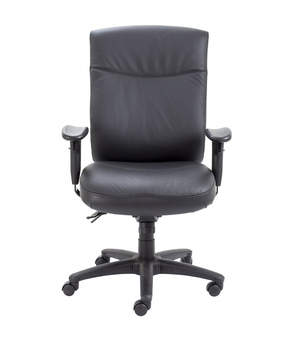 Marathon Leather High Back Heavy Duty Chair - Black