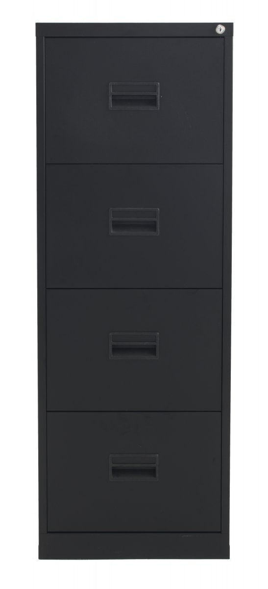 Talos Steel Storage 4 Drawer Filing Cabinet - Black