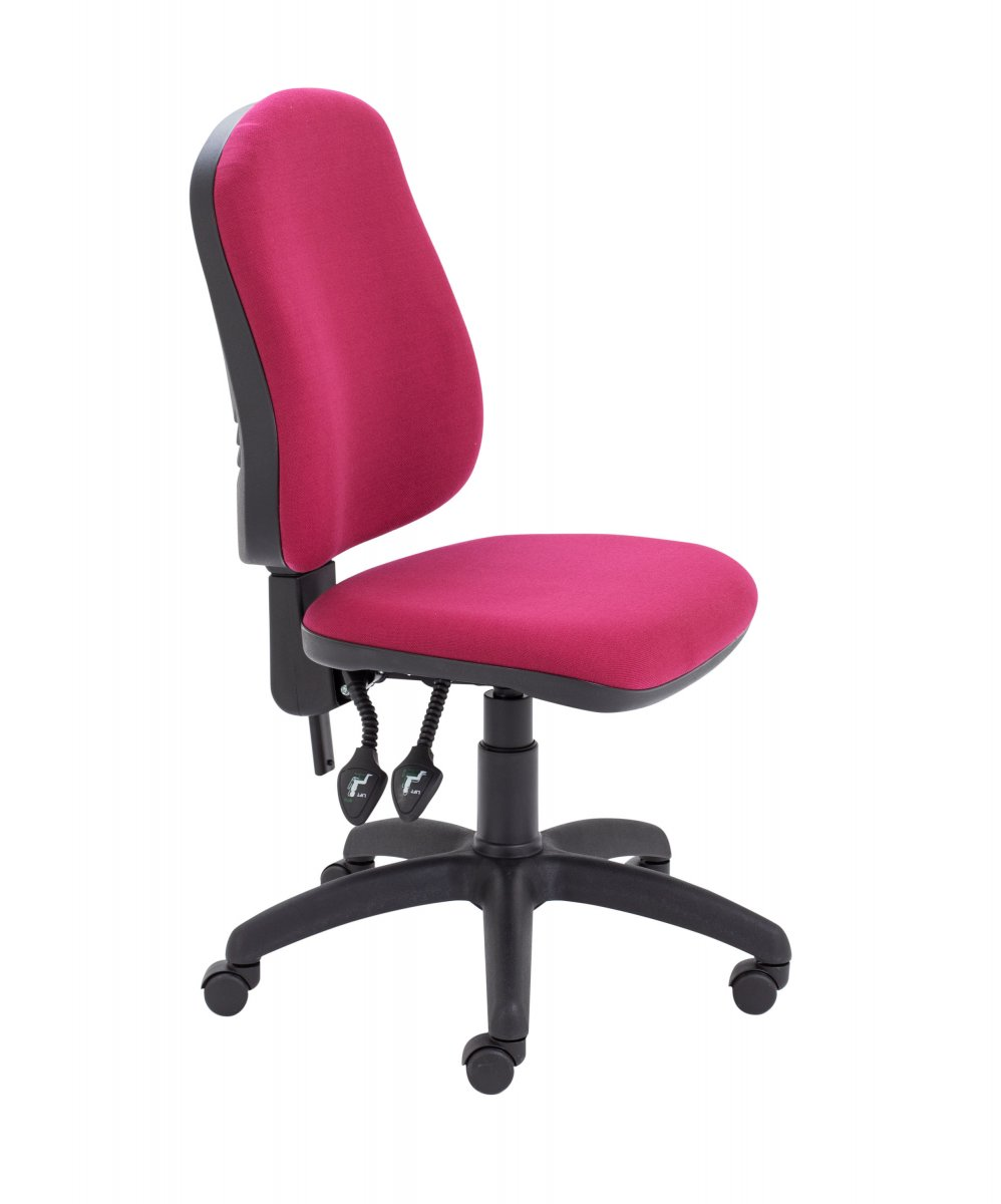 Calypso II High Back Operator Chair with PCB Mechanism - Claret