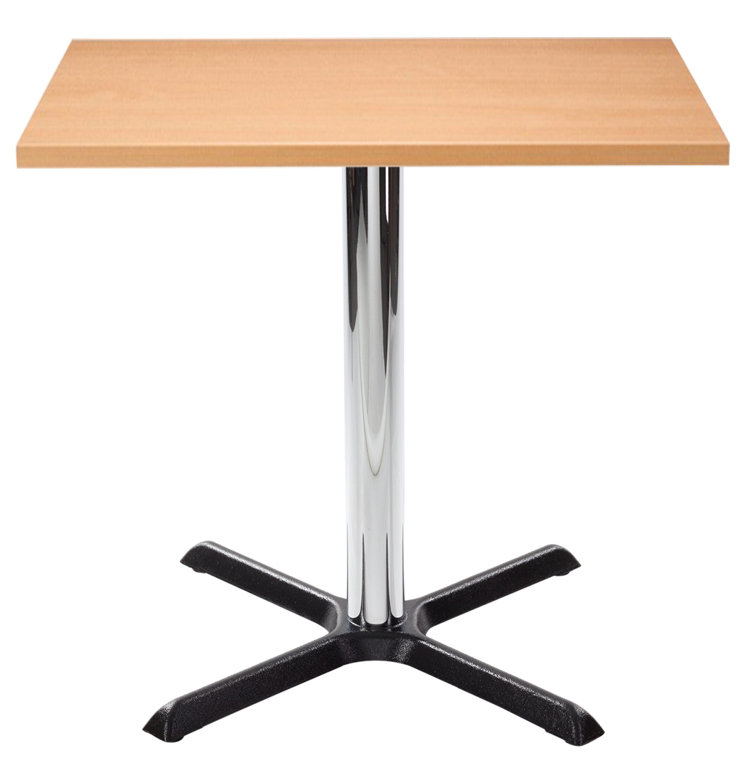 Orlando Square Dining Table - Beech with Chrome Column