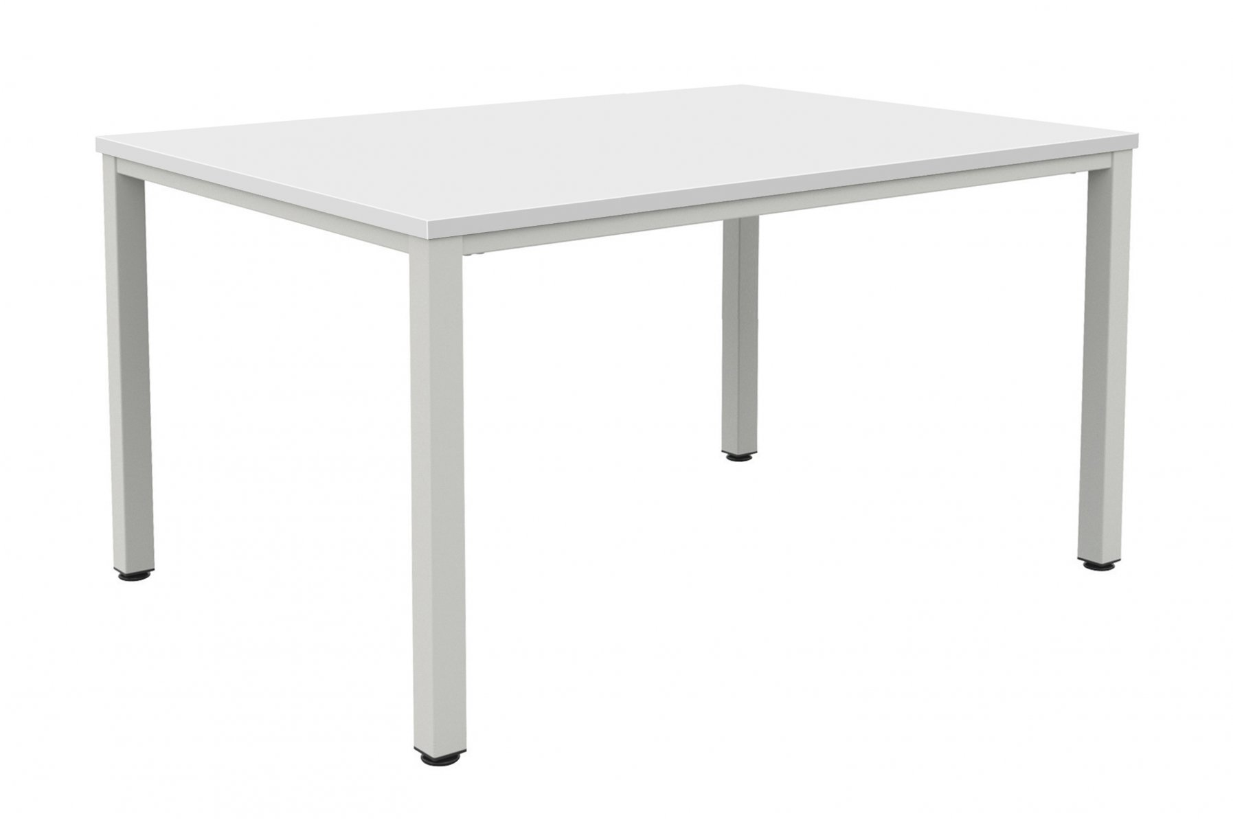 Fraction Infinity 140 x 80 Meeting Table - White with Silver Legs