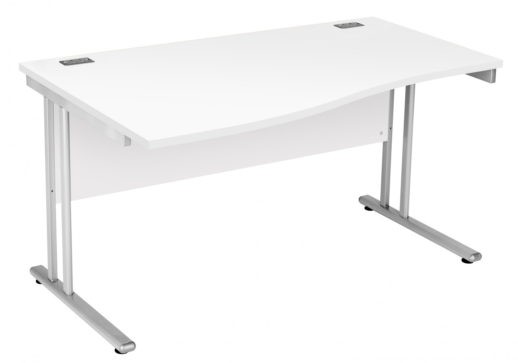 Fraction 2 Left Hand 140 Wave Workstation - White with Silver Frame