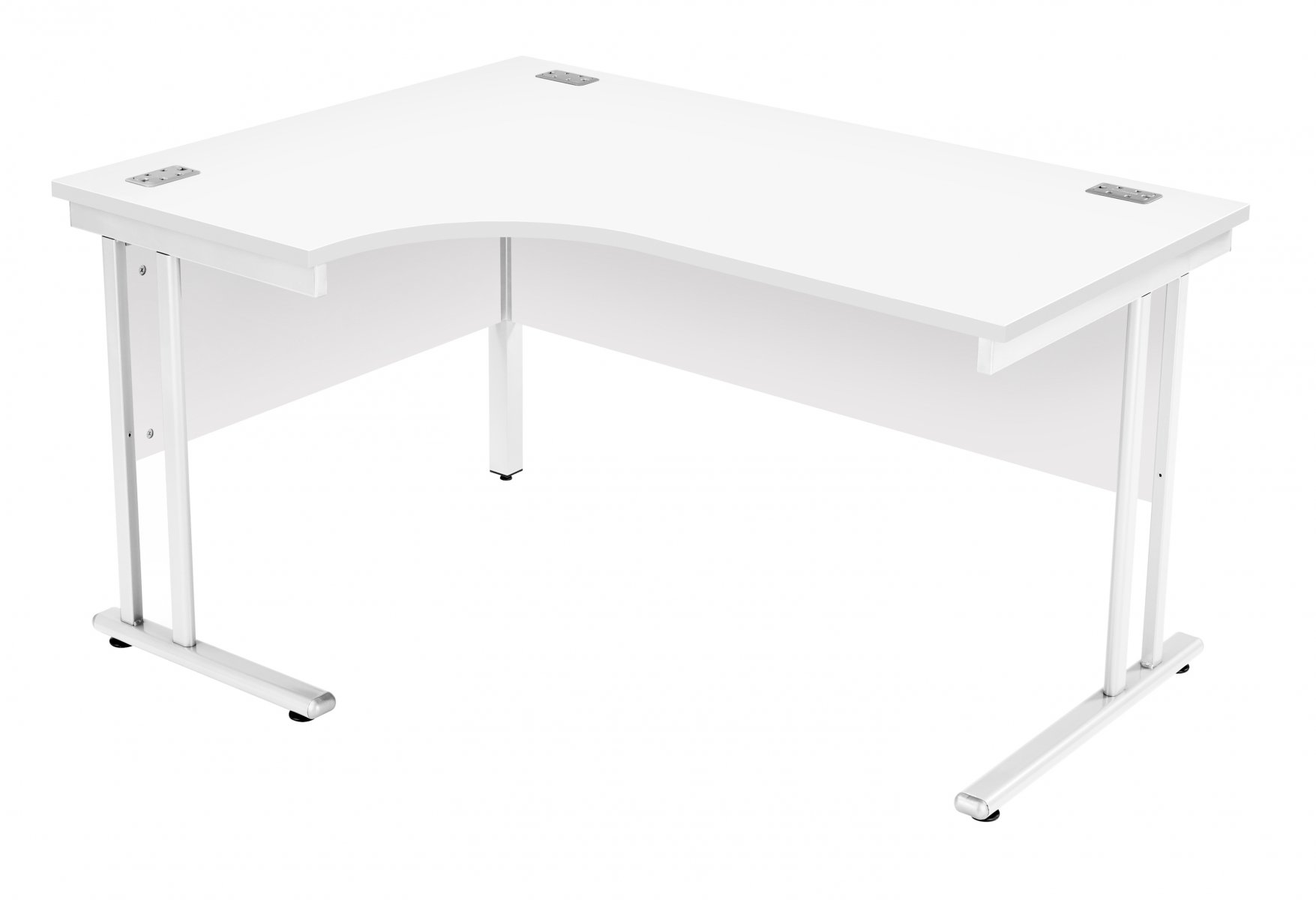 Fraction 2 Left Hand 140 Core Workstation - White with White Frame