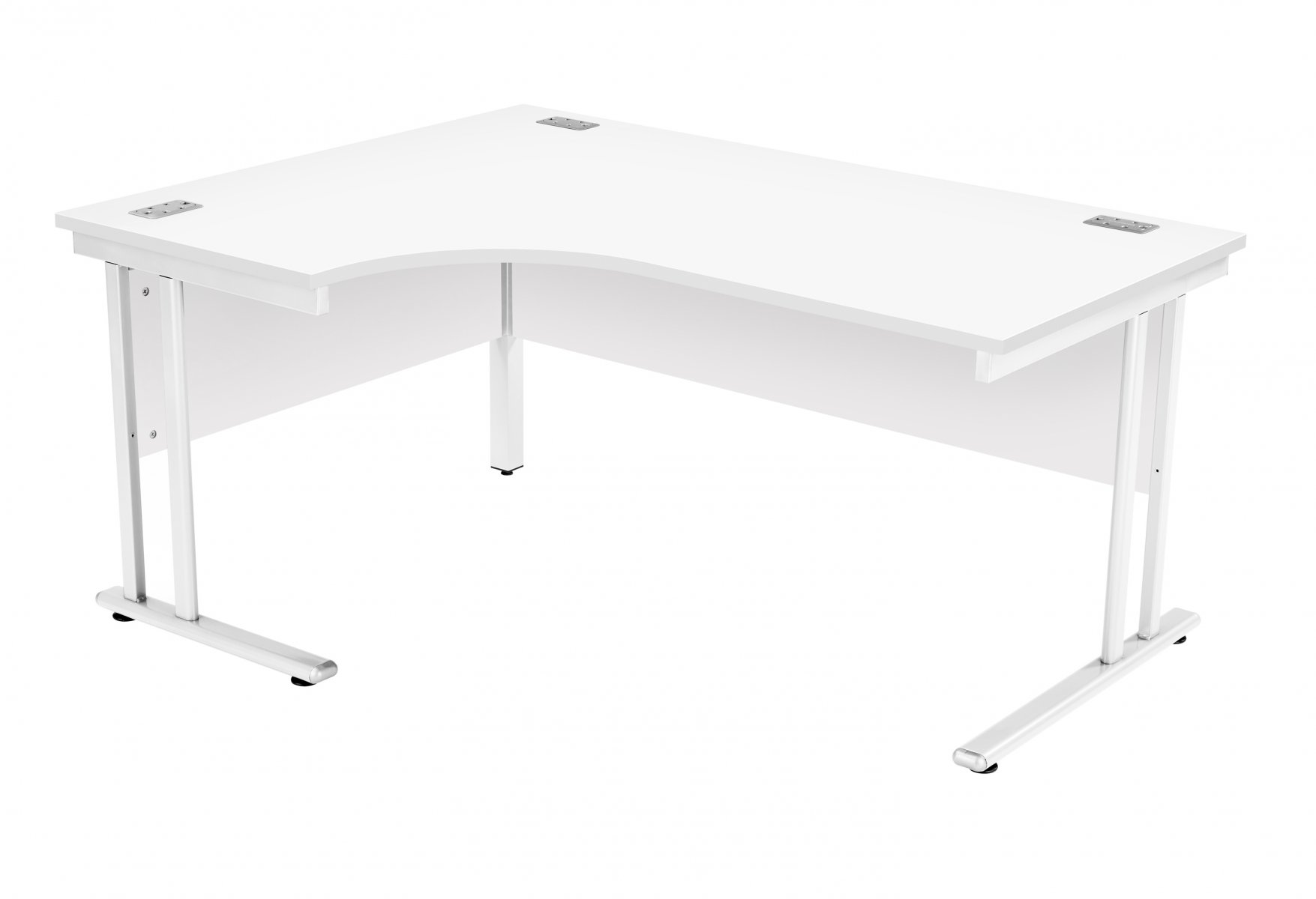 Fraction 2 Left Hand 160 Core Workstation - White with White Frame