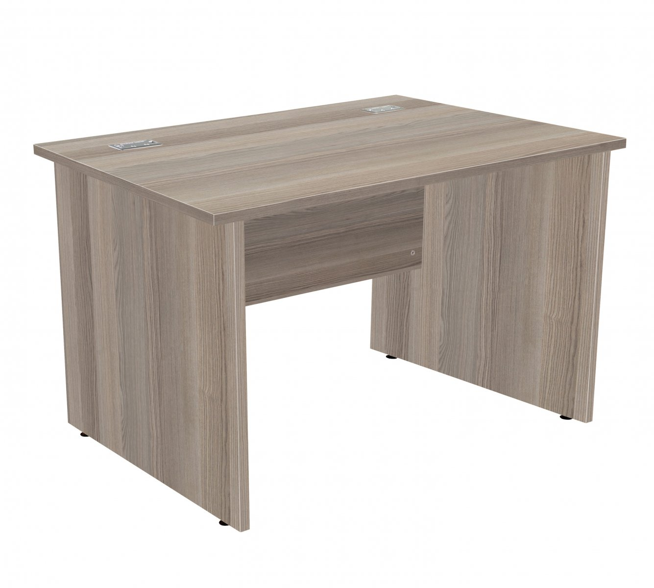 Fraction Plus Panel End Rectangular 120 Desk - Grey Oak