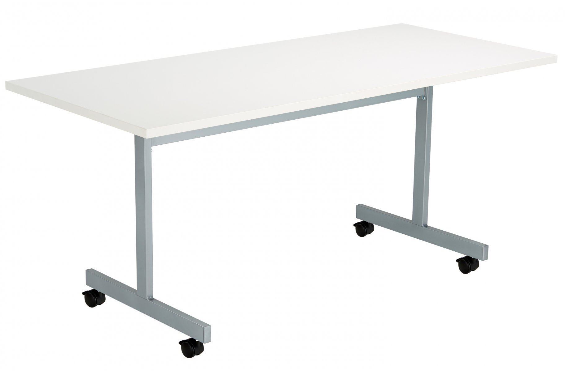 One Eighty Rectangular 160 x 70 Flip Top Meeting Table - White