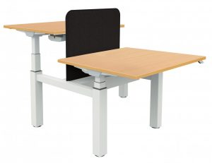 Fraction Bench Electrical Sit-Stand 120 Rectangular Workstation - Beech