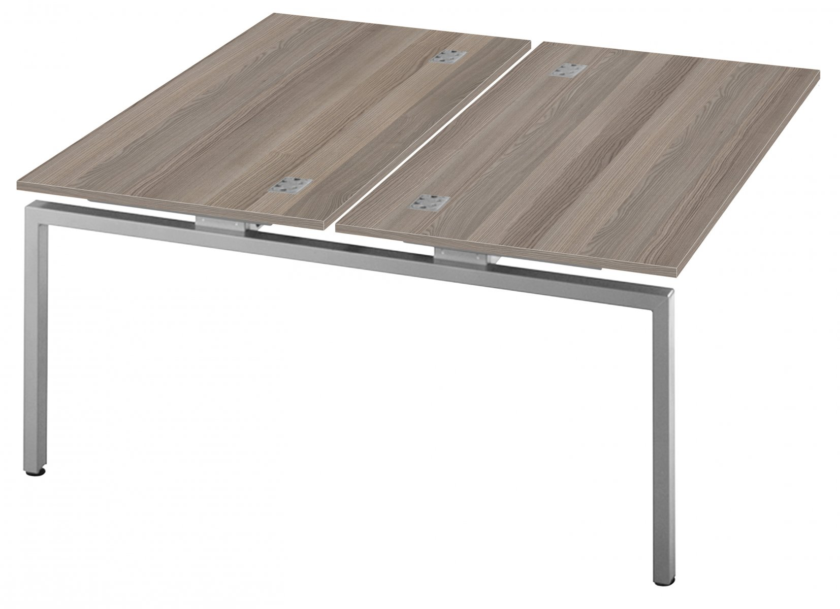 Fraction Bench Double 160 Extension Unit Workstation - Grey Oak
