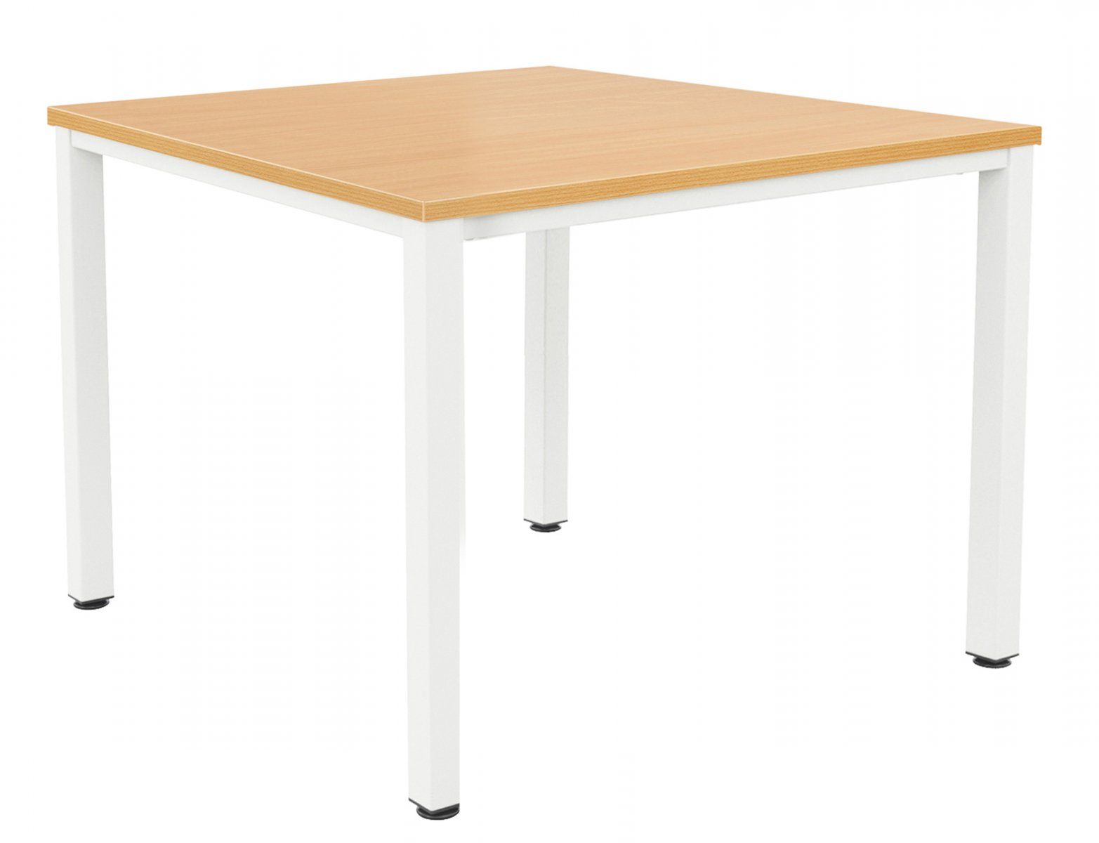 Fraction Infinity 140 x 140 Meeting Table - Beech with White Legs