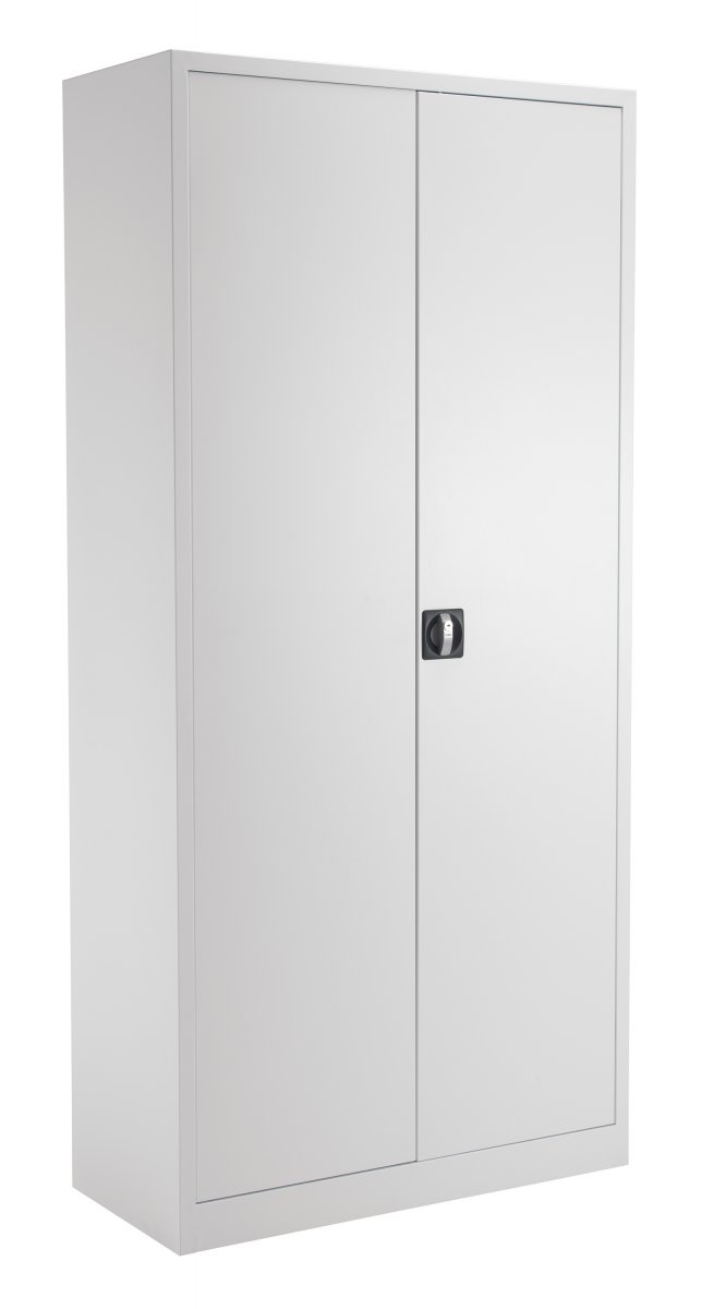 Talos Steel Storage Double Door 195 Cupboard inc. 4 Shelves - White