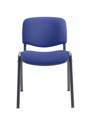 Club Upholstered Conference Chair - Royal Blue with Black Frame