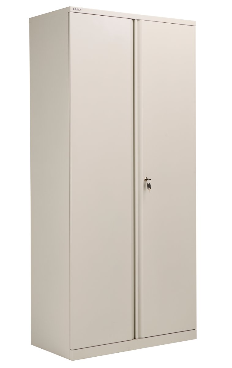 Bisley Essentials Steel Double Door 198.5 Cupboard - Goose Grey