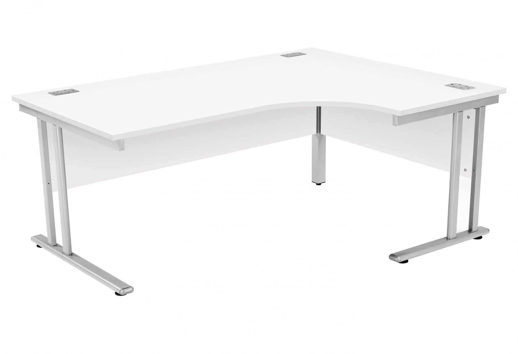Fraction 2 Right Hand 180 Core Workstation - White with Silver Frame