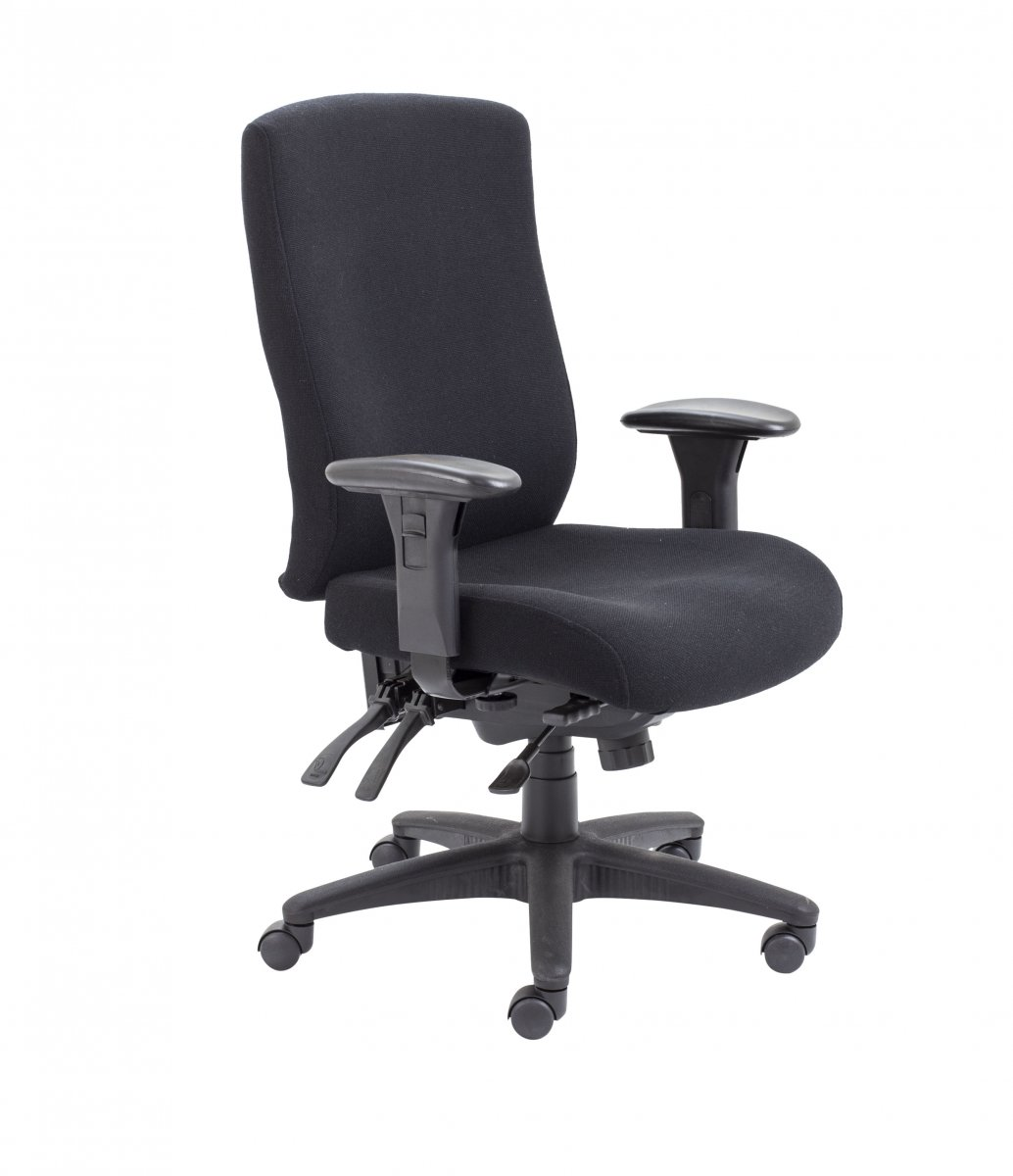 Marathon Fabric High Back Heavy Duty Chair - Black