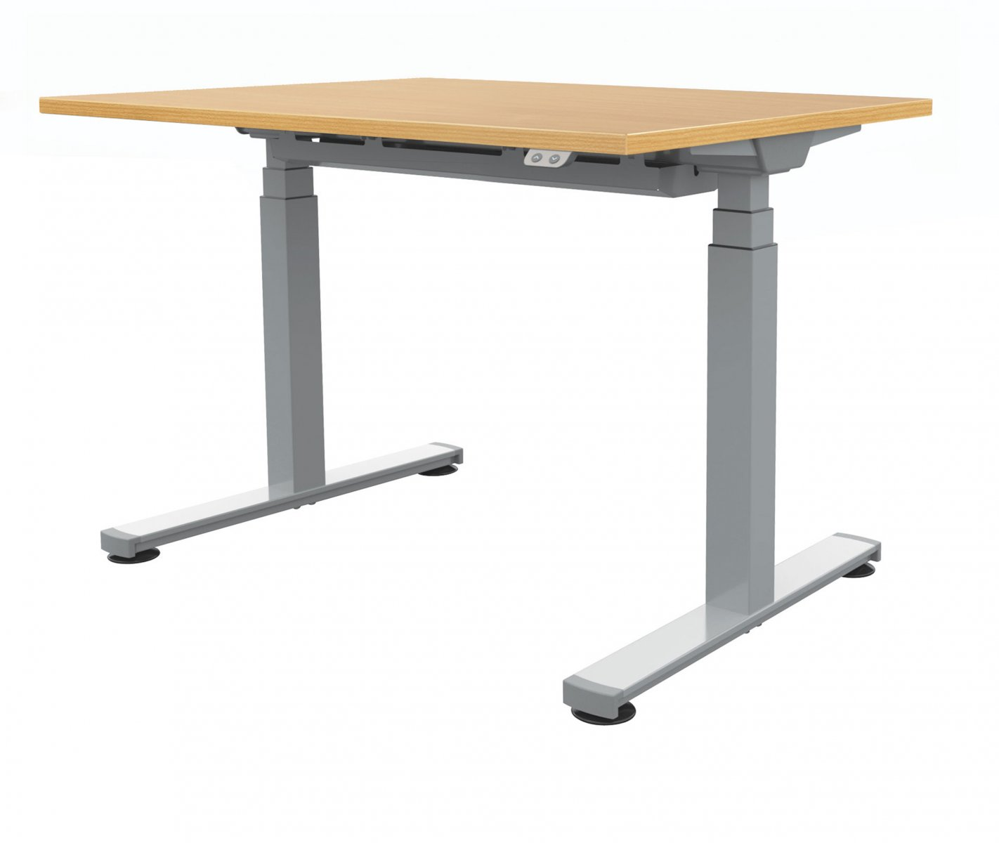 Fraction Plus Electrical Sit-Stand 120 Rectangular Workstation - Beech