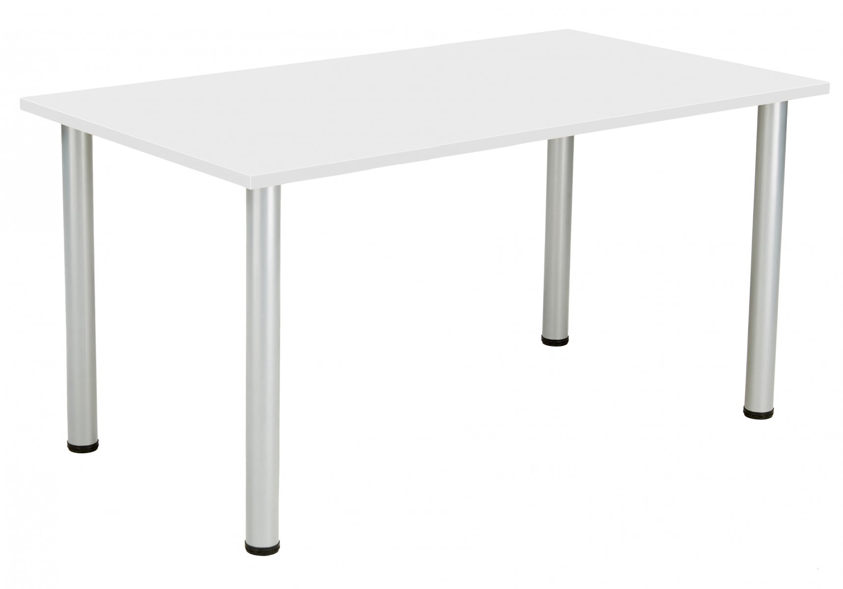 Fraction Plus Rectangular 140 Meeting Table - White