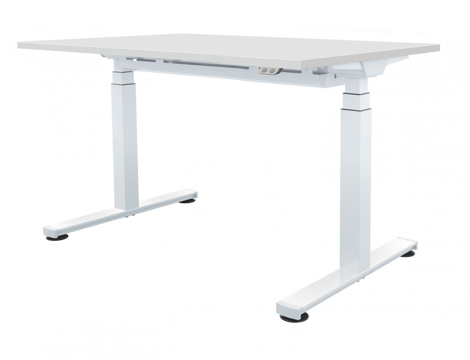 Fraction Plus Electrical Sit-Stand 140 Rectangular Workstation - White