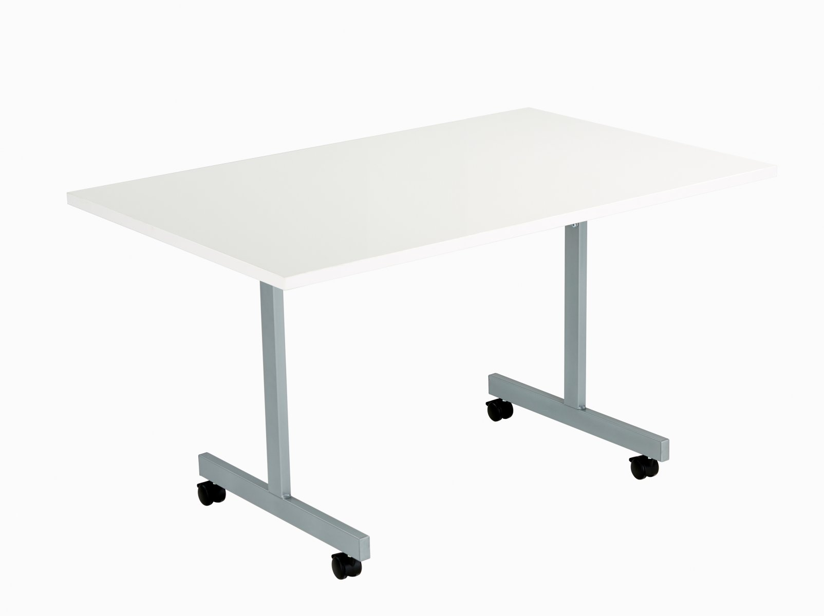 One Eighty Rectangular 120 x 70 Flip Top Meeting Table - White
