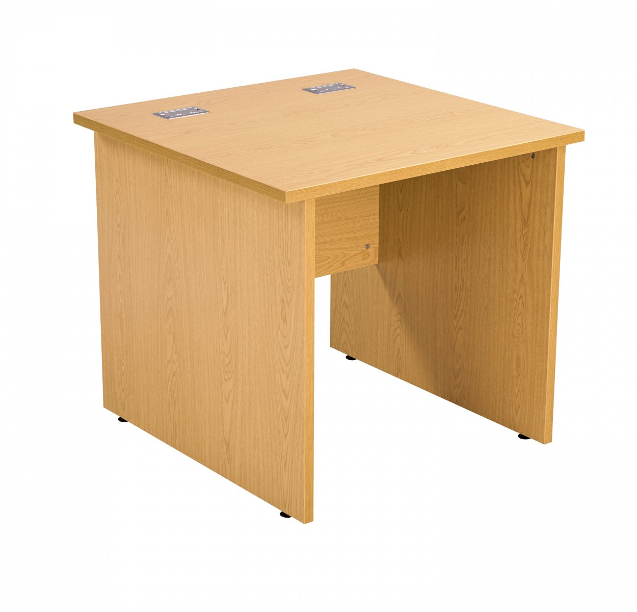 Fraction Plus Panel End Rectangular 80 Desk - Beech