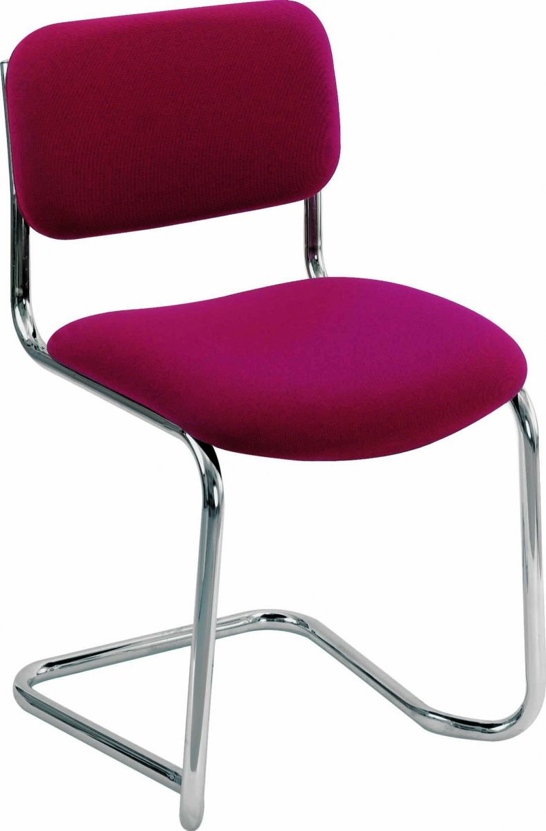 Summit Meeting Visitor Chair - Claret