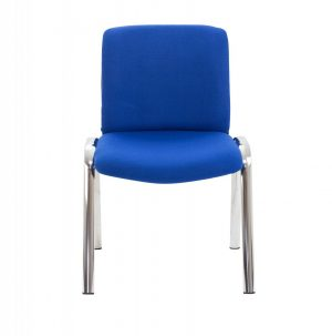 Pavilion Side Chair with Chrome Frame - Royal Blue