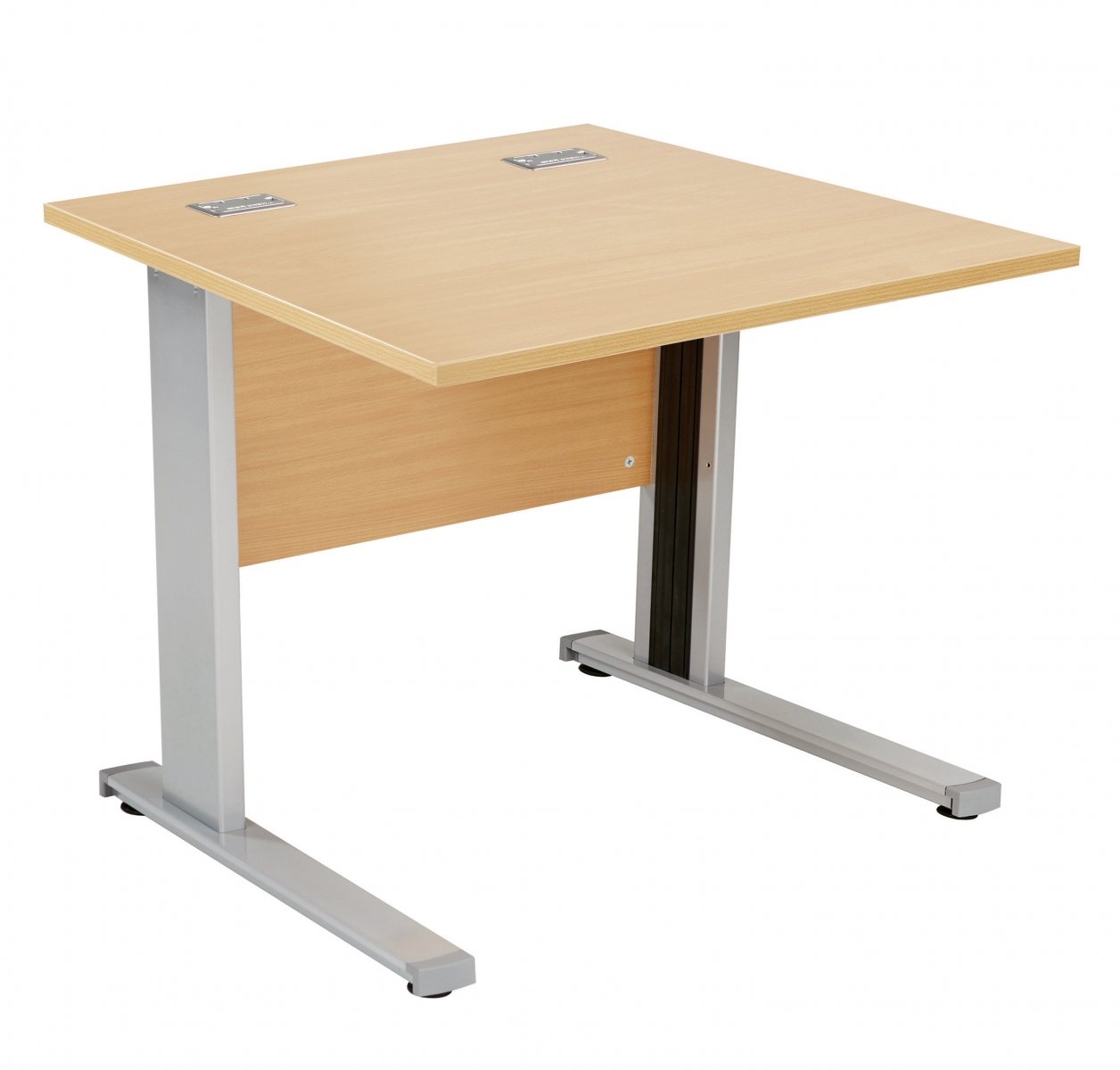 Fraction Deluxe Square 80 Desk - Nova Oak