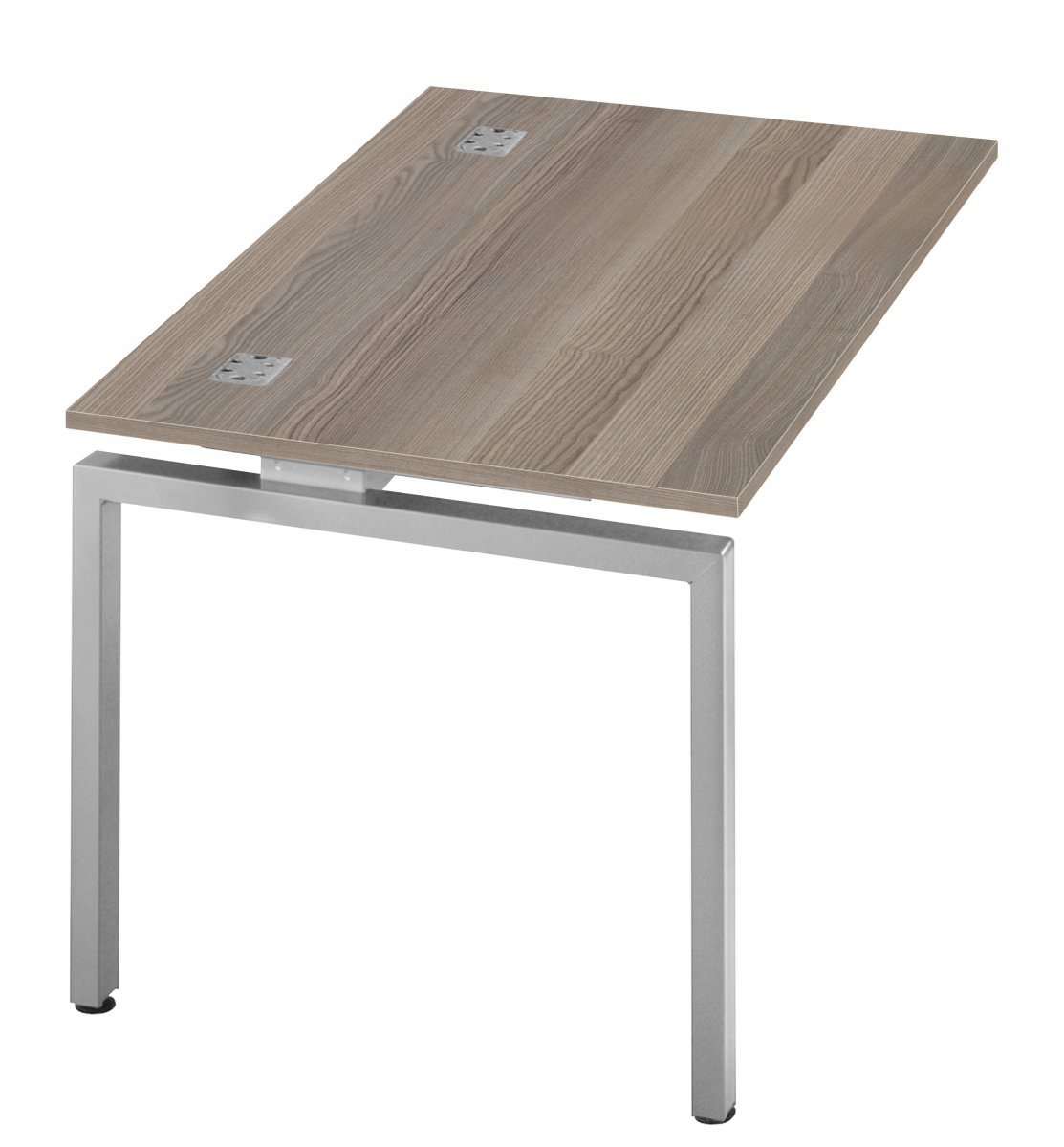 Fraction Bench Single 140 Extension Unit Workstation - Grey Oak
