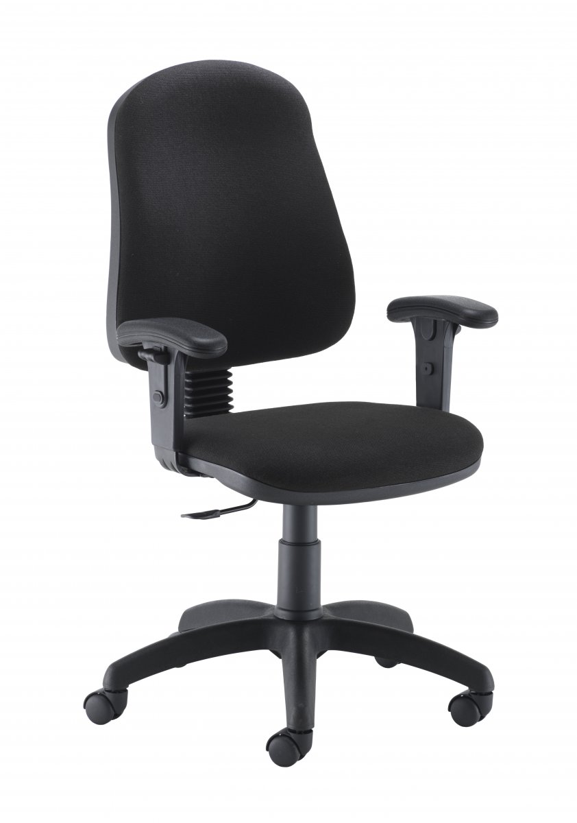Calypso 2 Single Lever Fixed Back + Adjustable Arms Black