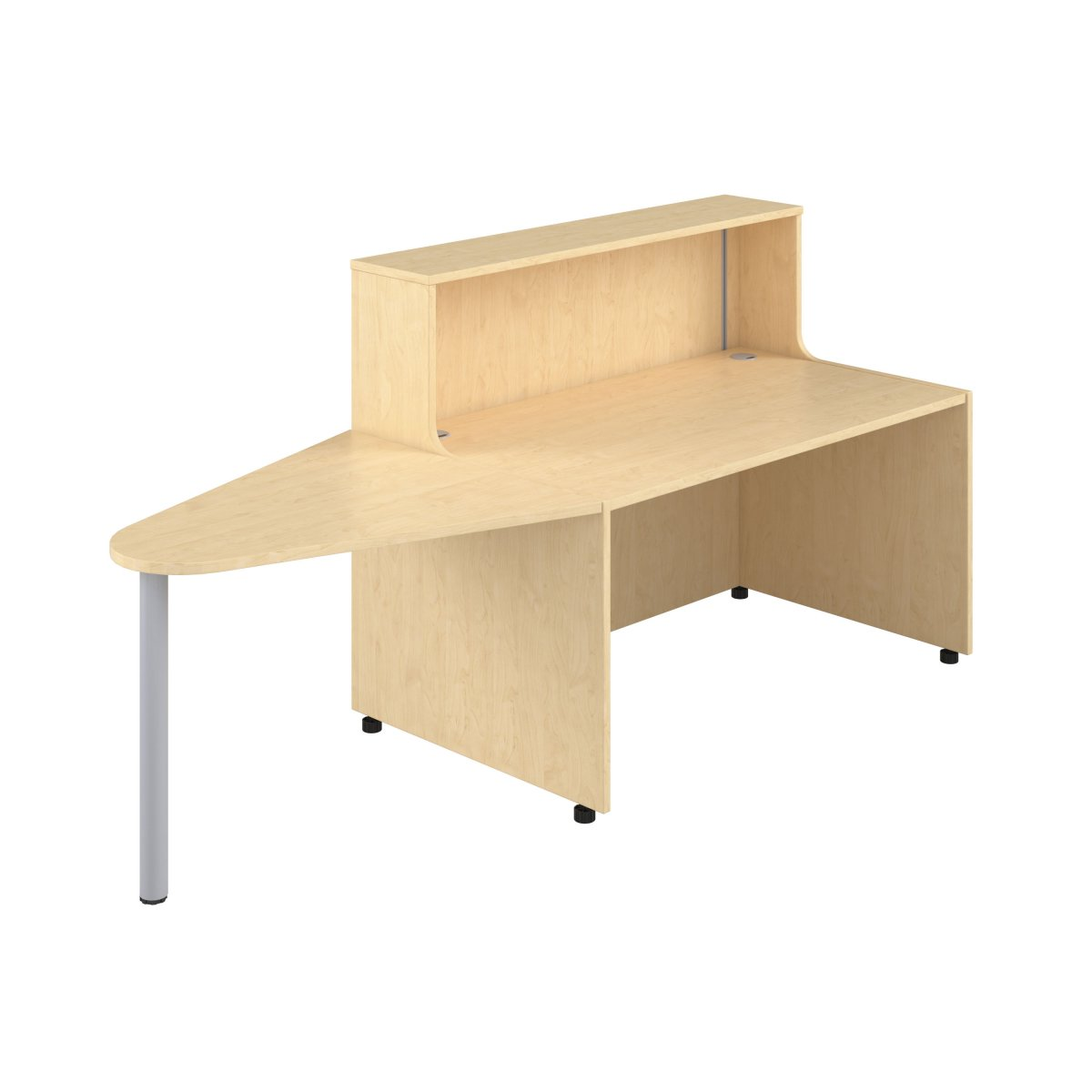 Reception Unit 1400 With Extension - Maple Sides With Maple Top