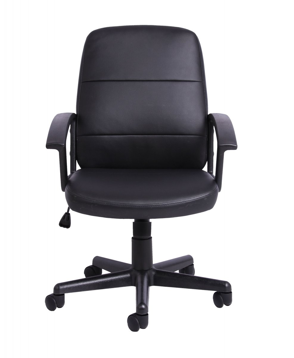 Gomez Black Leather Look Chair