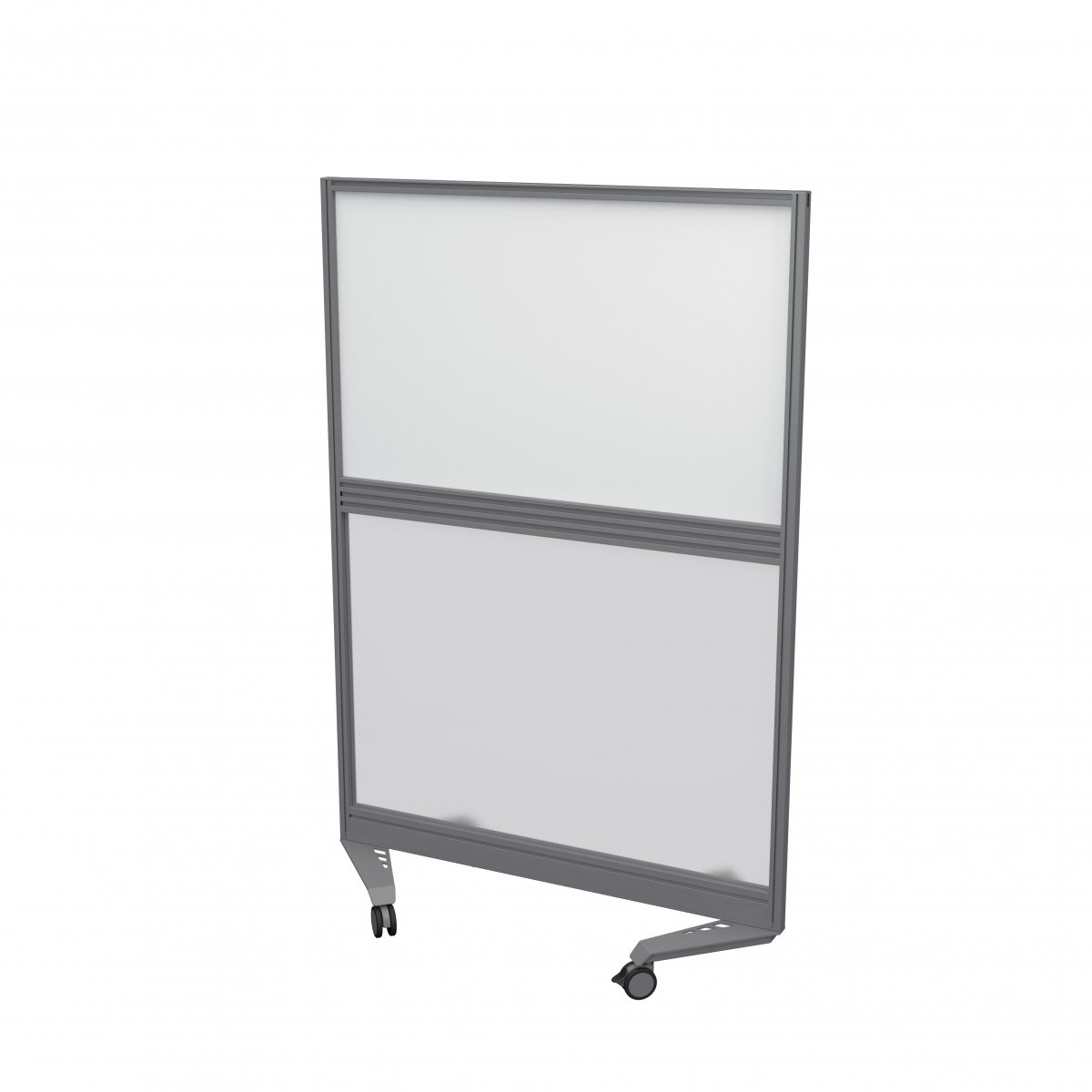 Mobile Type 4 Fully Glazed Screen Silver Frame - 800W X 1500H Band 1