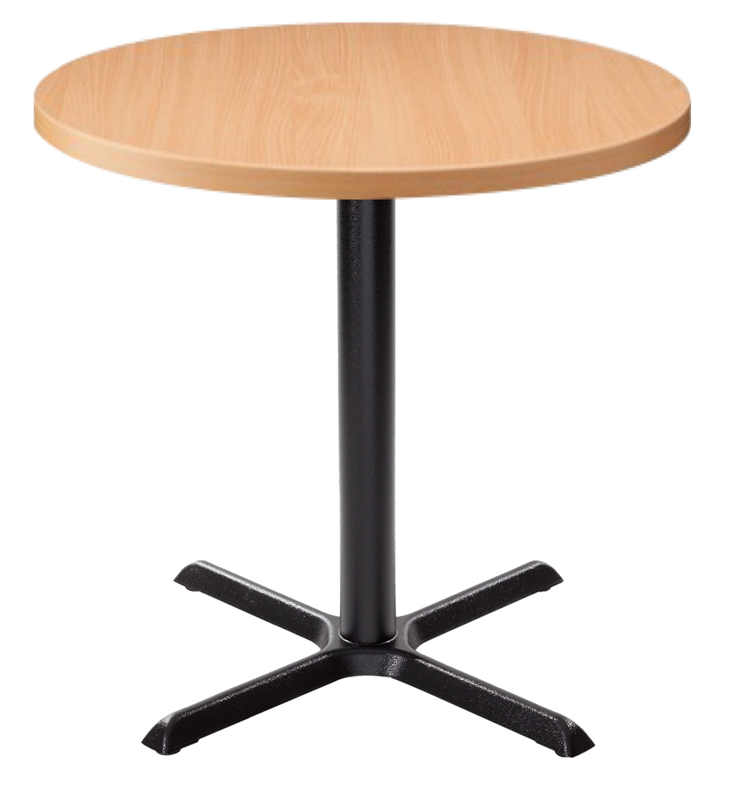 Orlando Round Dining Table - Beech With Black Column