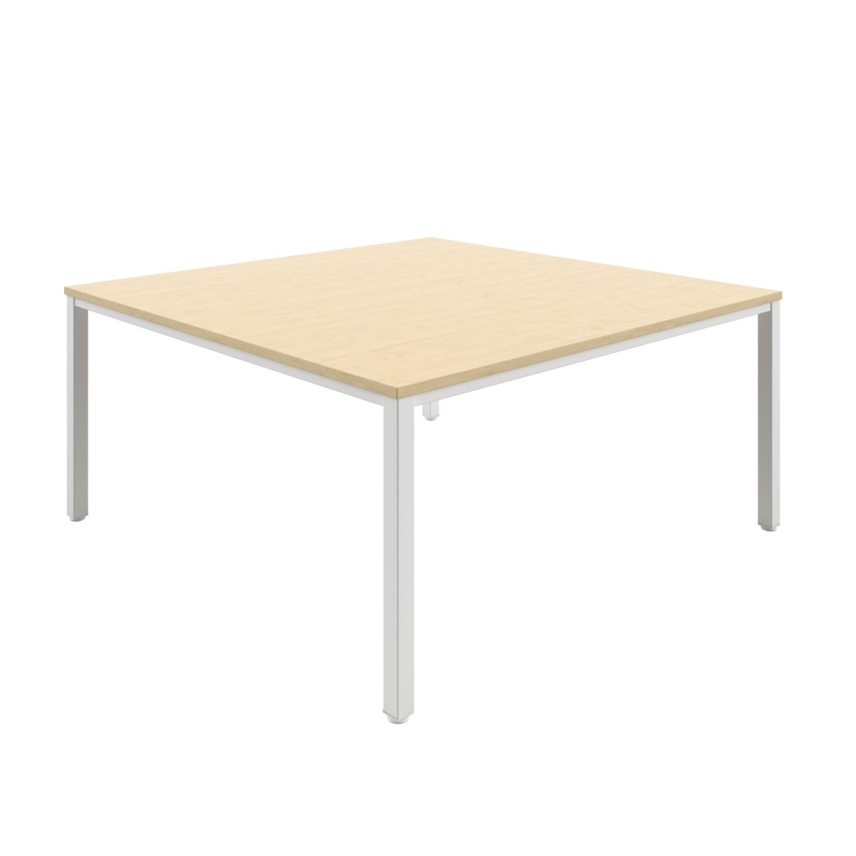 Fraction Infinity 160 X 160 Meeting Table - Maple With White Legs