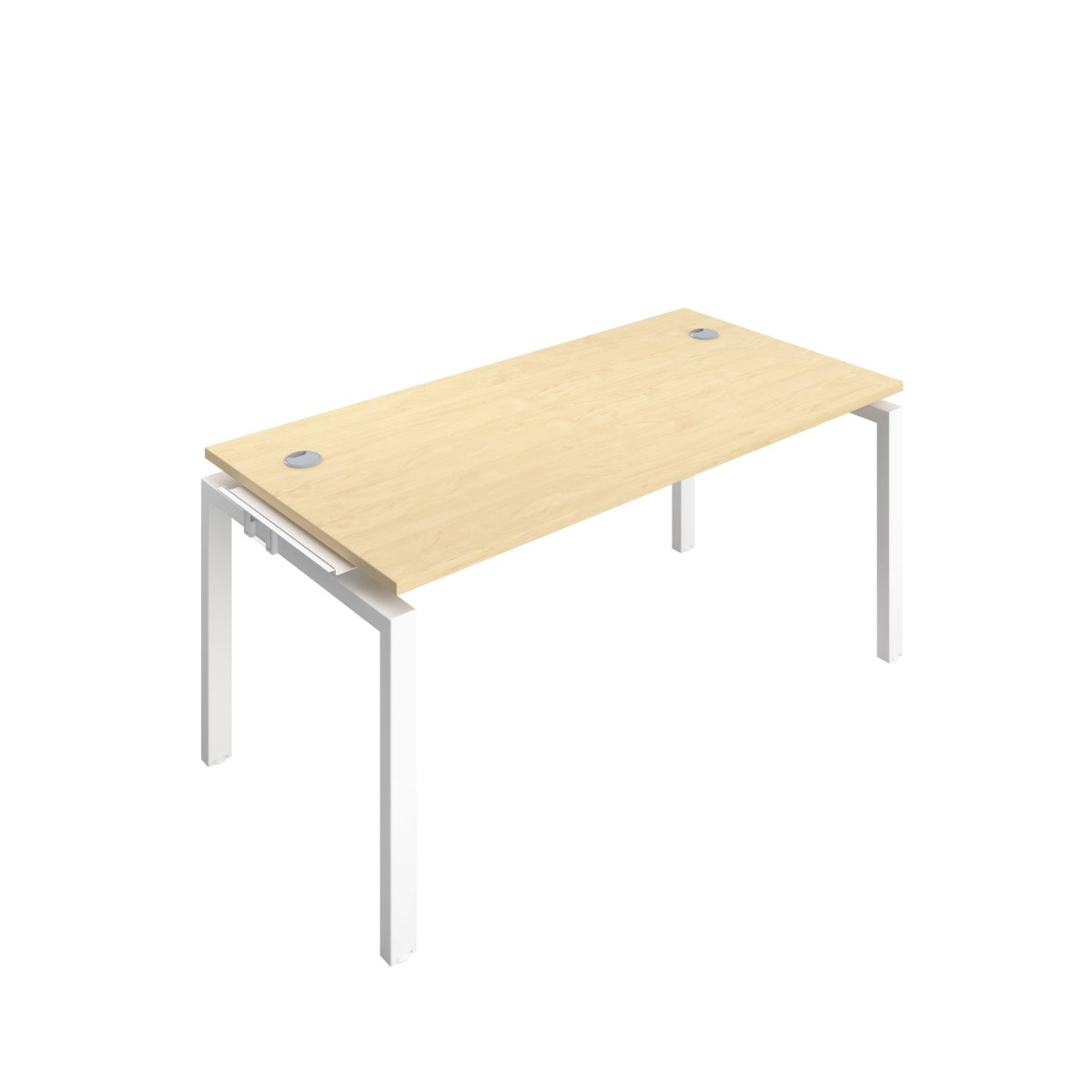 Telescopic 1 Person Bench Extension 1600 X 800 Cable Port Maple-White