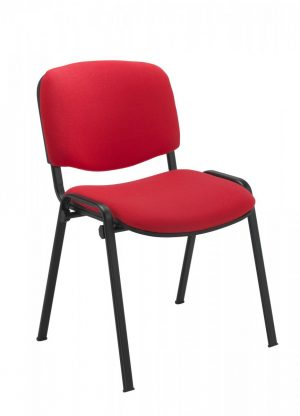 Club Chair Red Fabric