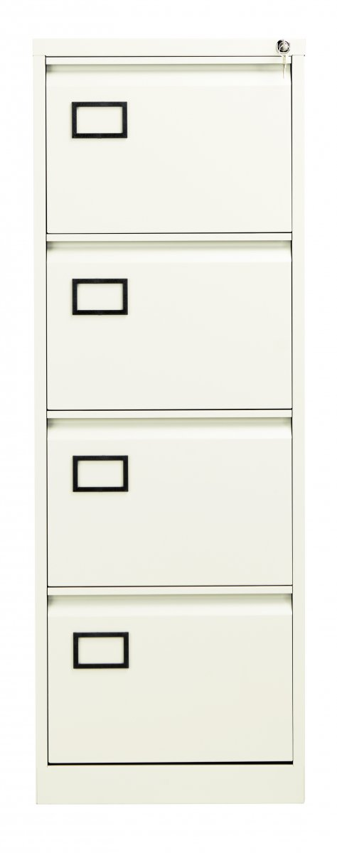 Bisley 4 Drawer Contract Steel Filing Cabinet - Chalk
