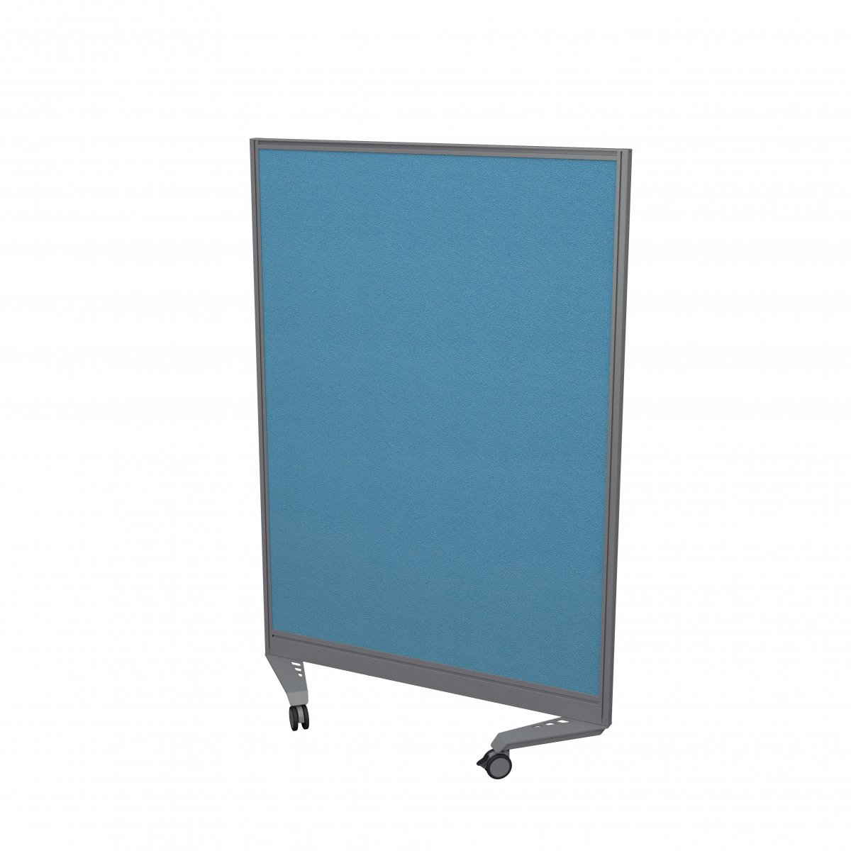 Mobile Type 1 Single Toolrail Screen Silver Frame - 1000W X 1500H Band 3