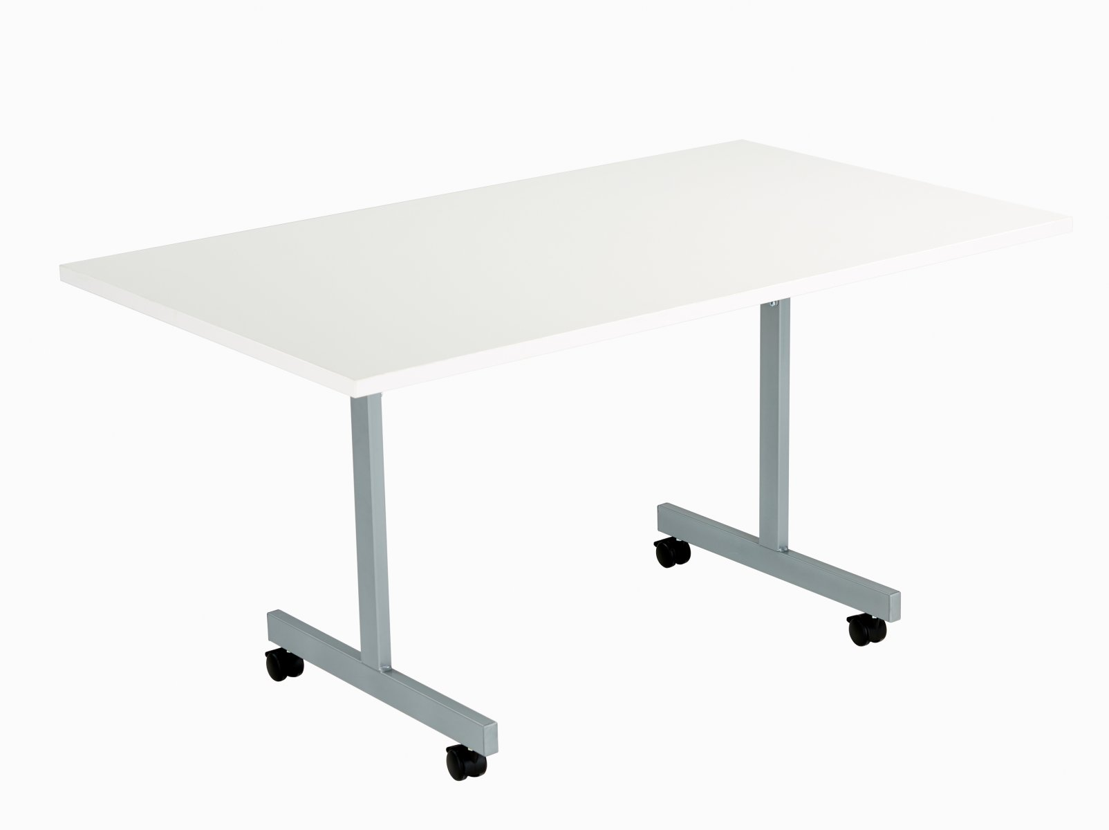 One Eighty Tilting Table 1400 X 800 Silver Legs White Rectangular Top