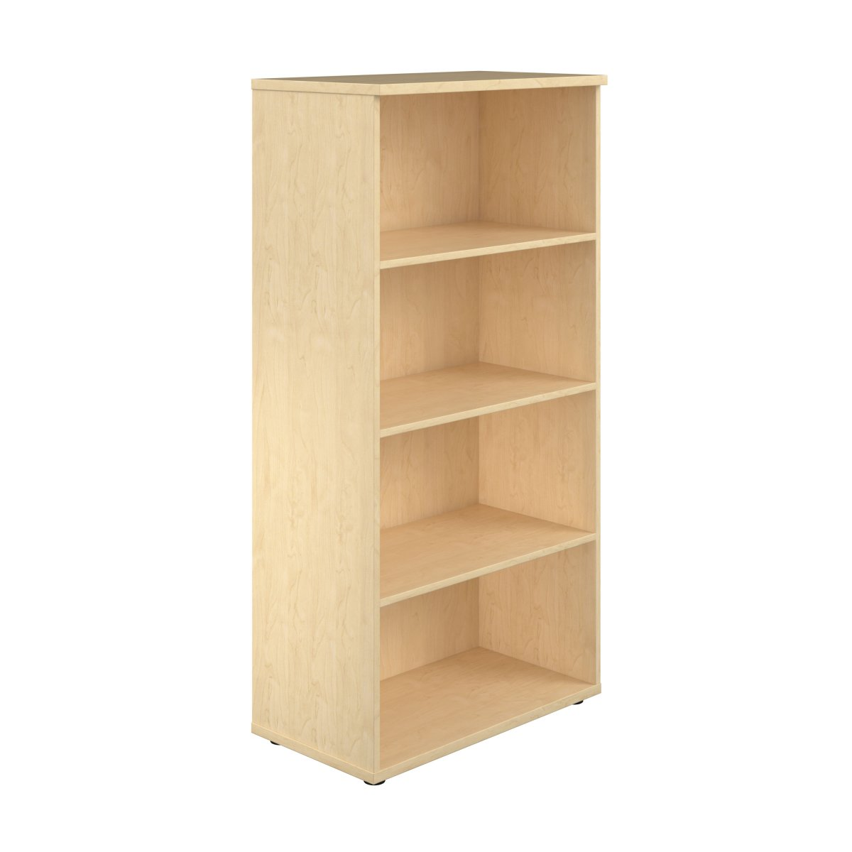 1600 Wooden Bookcase (450mm Deep) Maple