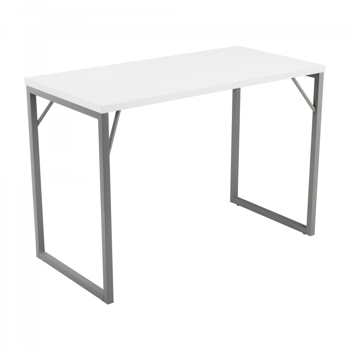 Picnic Bench High Table Silver 36mm White Top