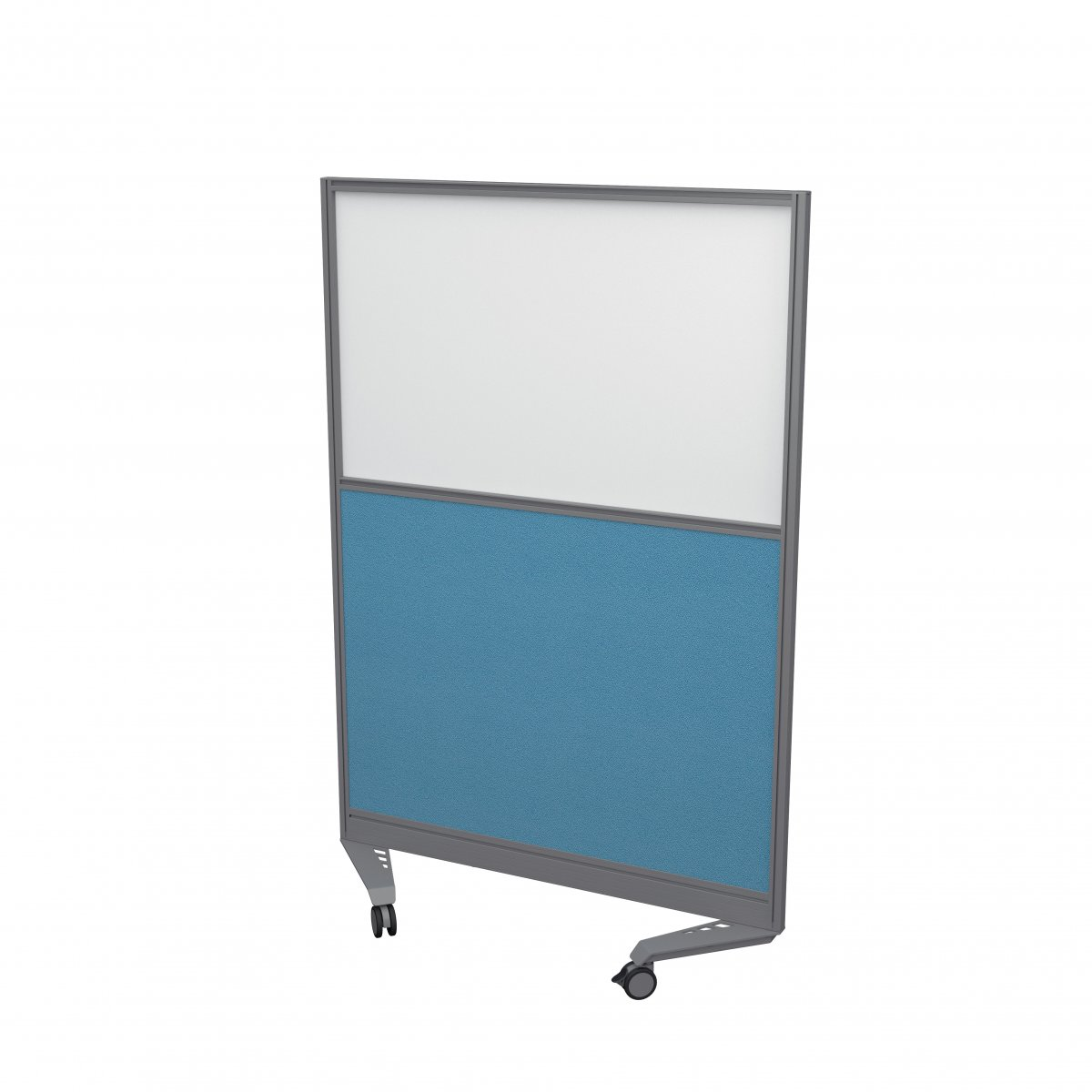 Mobile Type 3 Half Glazed Screen Silver Frame - 800W X 1800H Band 3